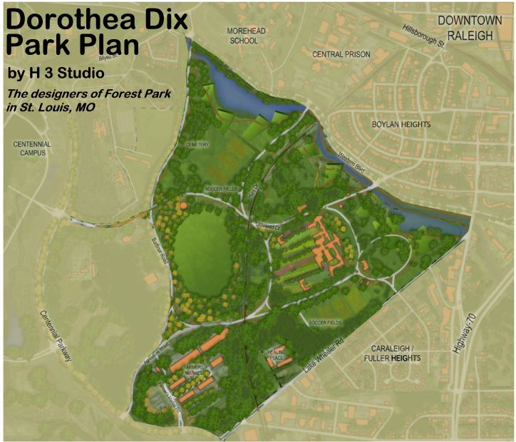 dorothea dix campus map Fddp Compare The Fddp Park Plan With Uli Development Plan dorothea dix campus map